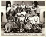 This was a 2nd and 3rd grade split so only our classmates are labelled:1st Row:  --, --,  Butch Hawkins, --, Ed Anderson